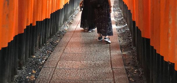 大石撮影 神社参道